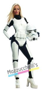 """costume Donna della fantastica Donna Sexy Stormtrooper personaggio dell'esercito imperatore con Licenza Ufficiale Disney della saga fantascientifica di guerre Stellari """"STAR WARS™"""
