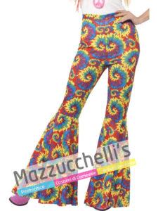 Pantaloni Zampa Colorati Donna Anni '60 '70