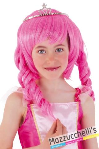 Parrucca-bambina-principessa-rosa---Mazzucchellis