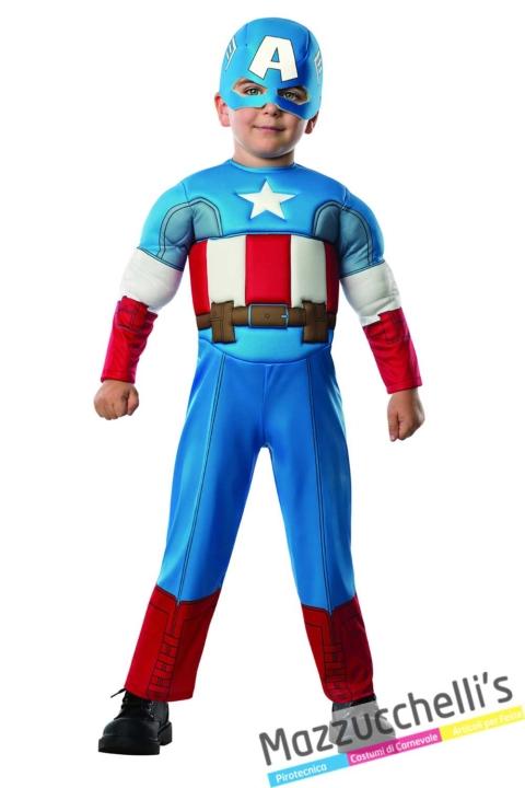 costume-bambino-neonato-marvel-ufficiale-supereroi-capitan-america---Mazzucchellis