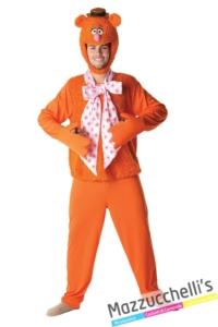 costume-uomo-adulto-Orso-PelosoFozzie-personaggio-Famoso-dei-Cartoni-d'animazione-Muppet-Ufficiale-Disney---Mazzucchellis