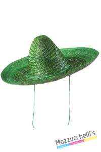 cappello sombrero messicano colorato verde - Mazzucchellis