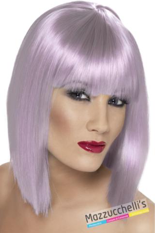 parrucca caschetto lilla anni 20 charleston - Mazzucchellis