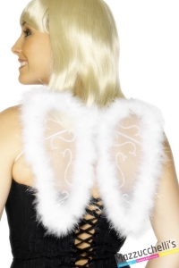 Ali Piccole Bianche angelo bianco halloween carnevale o altre feste a tema - Mazzucchellis