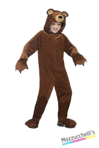 COSTUME bambini animale della foresta orso CARNEVALE HALLOWEEN O ALTRE FESTE A TEMA - Mazzucchellis