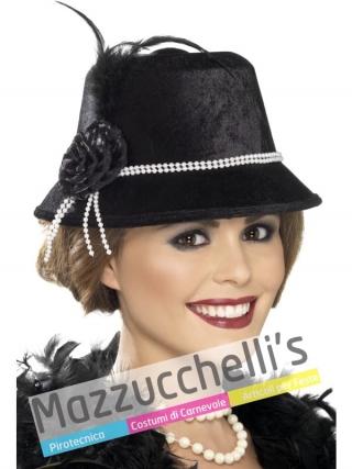 Cappello Anni '20 Charleston Carnevale Halloween o feste a tema