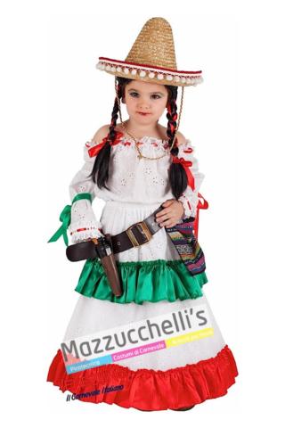 Costume Bambina Messicana - Mazzucchellis