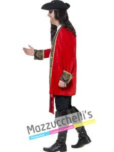 Costume Uomo Pirata Corsaro Rosso taglia forte