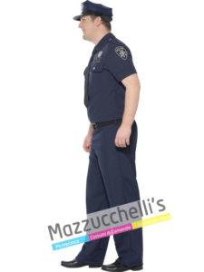 Costume Adulto Uomo Curvy Mestieri Lavori Poliziotto