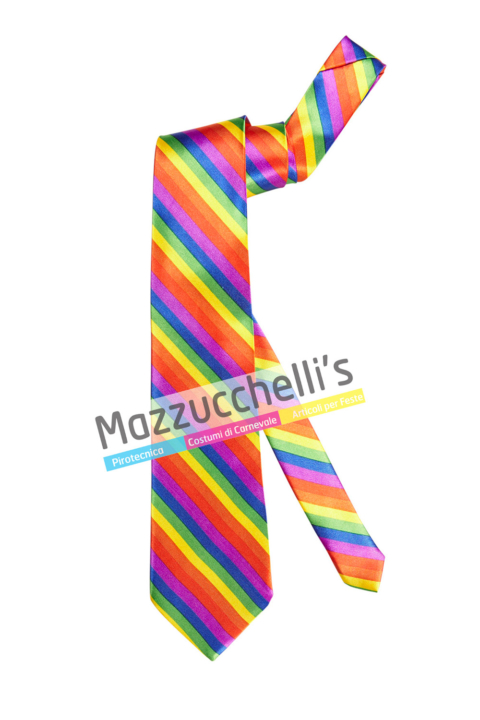 Cravatta Arcobaleno colorata - Mazzucchellis