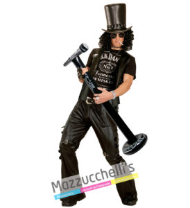 Microfono con Asta Gonfiabile cantante popstar rock carnevale halloween altre feste a tema