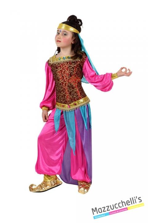 costume bambina odalisca carnevale halloween o altre feste a tema - Mazzucchellis