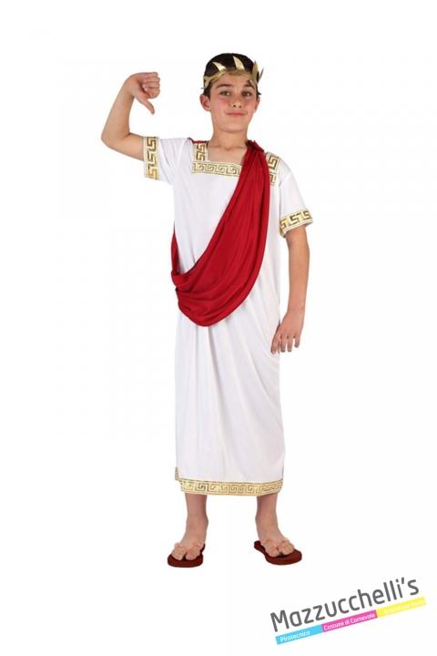 costume bambino imperatore romano carnevale halloween o altre feste a tema - Mazzucchellis