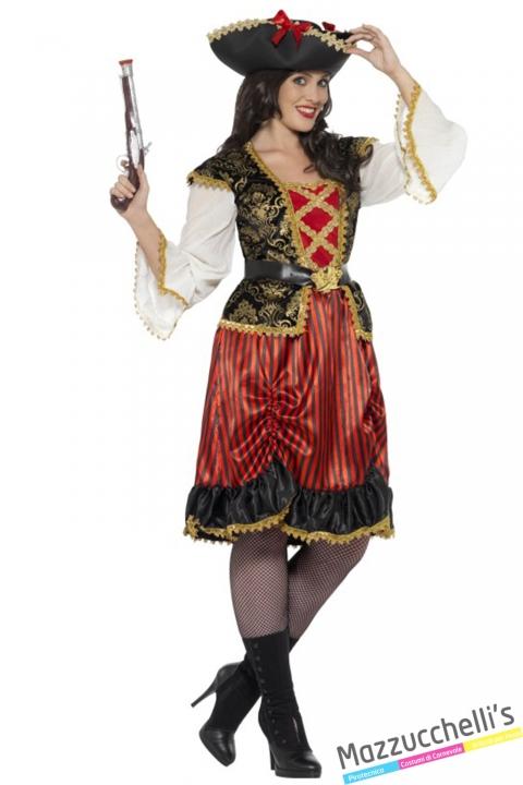 costume curvy piratessa corsara halloween , carnevale o altre feste a tema - Mazzucchellis