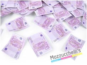 SPARACORIANDOLI BANCONOTE €500 VIOLA cm.60 PER MATRIMONI, CRESIME, COMUNIONI, BATTESIMI, COMPLEANNI E ALTRE FESTE A TEMA - MAZZUCCHELLI'S