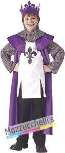 Costume Bambino Guerriero o Cavaliere Re medievale
