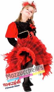 Costume bambina Carnevale Ballerina Can can