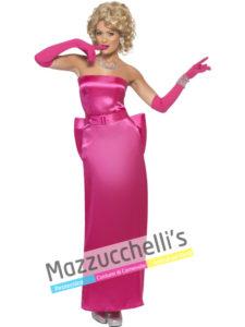 Costume Donna Cantante Madonna in Material Girl anni '80