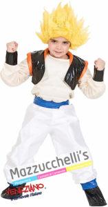 Il costume da Bambino da cartone del fantastico Super Saiyan Goku di Dragonball