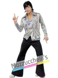 Costume Uomo Disco Fever Re del ballo anni '60 '70