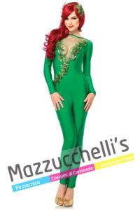 costume Donna da Poison Ivy avversaria del noto giustiziere mascherato Batman