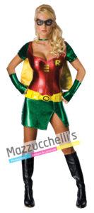 Costume Donna Supereroina Sexy Robin - Ufficiale Dc Comics