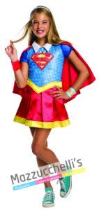 costume Ufficiale da Bambina della Supereroina SuperGirl del cartone dc super hero girl