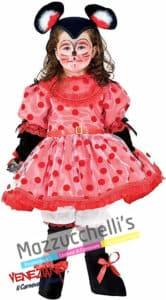 Costume Bambina Topolina Rossa Minnie