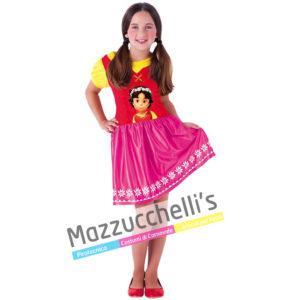 Il costume Licenza Ufficiale da Bambina del cartone animato Heidi