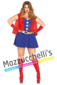 costume Donna film della Super Eroina Wonder Woman Curvy