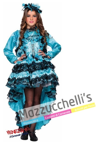 Costume bambina can can - Mazzucchellis