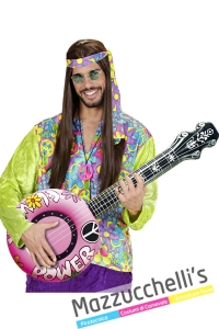Banjo Gonfiabile Rosa hippie figlai dei fiori - Mazzucchellis