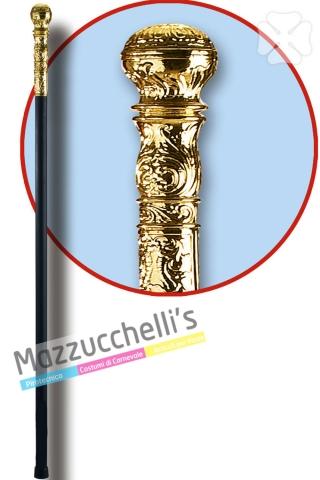 Bastone con Pomello Dorato - Mazzucchellis