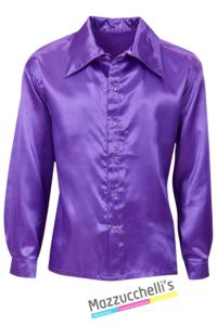 Camicia Viola Disco Anni '70- Mazzucchelli's