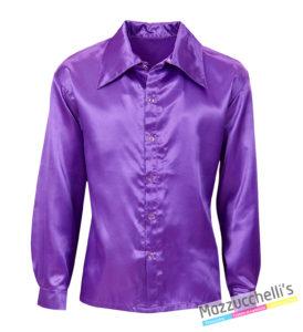 Camicia Viola Disco Anni '70