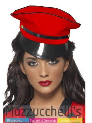 Cappello Rosso Poliziotto - PopStar Katty Perry cantante carnevale halloween o altre feste a tema
