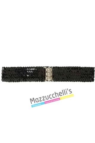 Cintura Paillettes Nera - Mazzucchellis