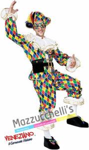 Costume Adulto Uomo Maschera tradizionale italiana Arlecchino