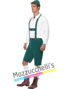 Costume Uomo Carnevale Tirolese Bavarese OKTOBERFEST