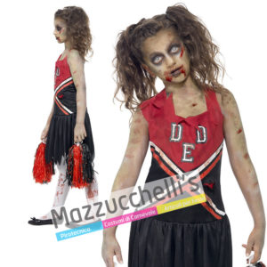Costume Bambina Halloween Cheerleader Zombie