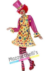 Costume Donna Clown del circo