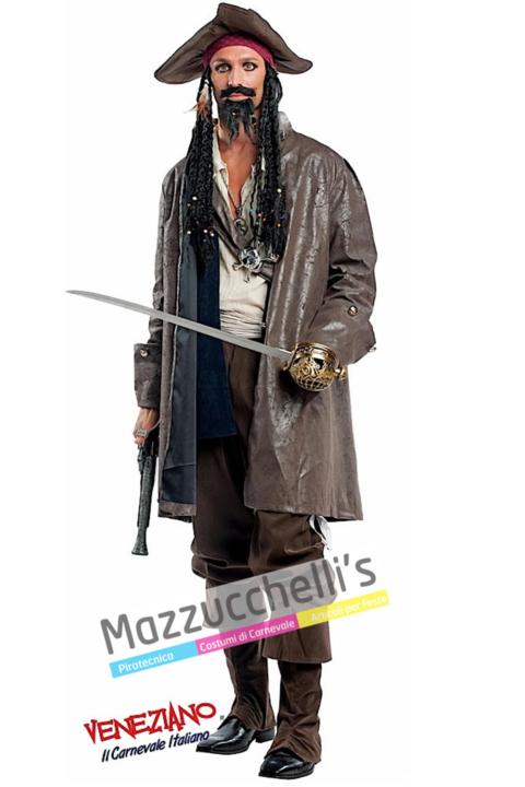 Costume Pirata Jack Sparrow – Pirati dei Caraibi - Mazzucchellis
