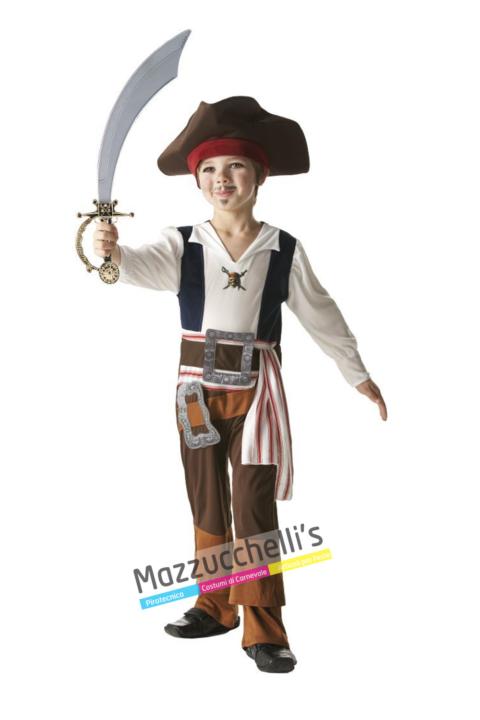 Costume Pirata Jack Sparrow – Ufficiale Disney™ - Mazzucchellis