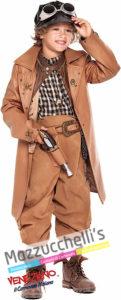 Costume Bambino Steampunk -Viaggio nel Tempo