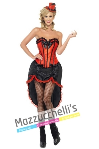 Costume donna sexy can can rossa - Mazzucchellis