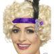 Fascia Charleston Viola Anni '20 Carnevale Halloween e feste a tema