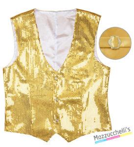 Gilet Paillettes Oro Uomo