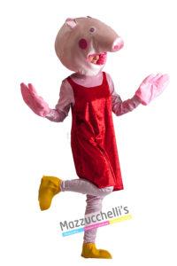 Costume Donna Adulta Cartone Mascotte Peppa Pig