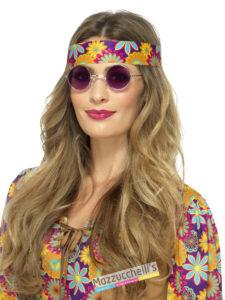 Occhiali Viola Hippie '60-'70 carnevale -halloween -feste a tema