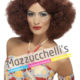 Parrucca Castana Anni '60-'70 Hippie Disco fever carnevale halloween feste a tema